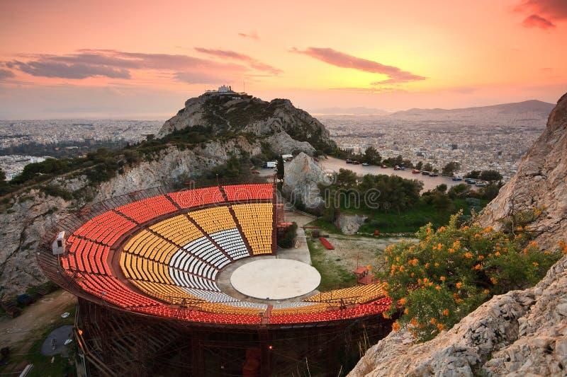Théâtre d'air ouvert, Athènes photographie stock libre de droits