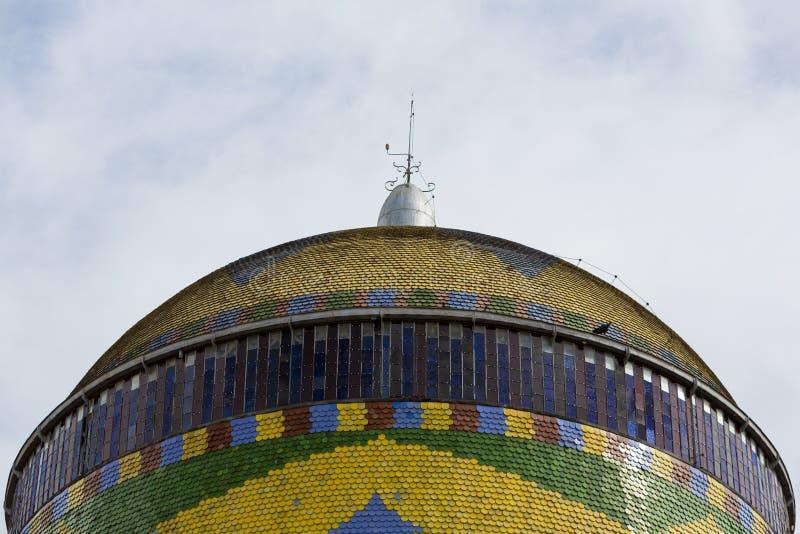 Théâtre d'Amazone avec le ciel bleu, théatre de l'opéra à Manaus, Brésil images libres de droits