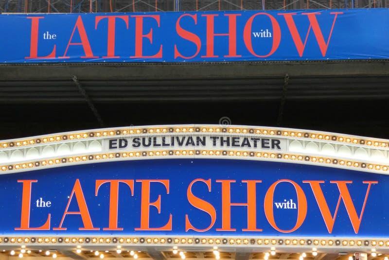 Théâtre d'Ed Sullivan photographie stock