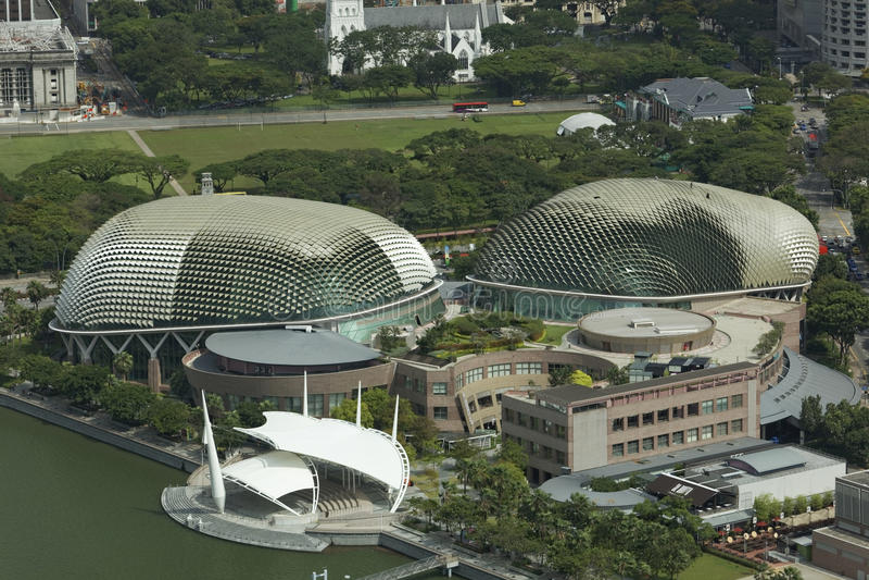 Théâtre d'esplanade, image courante de Singapour le 3 avril 2012 - photos stock
