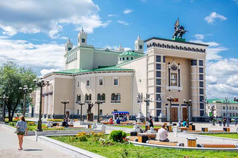 Théâtre d'opéra et de ballet d'état de Buryat photos libres de droits