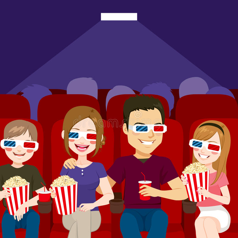 Théâtre de cinéma de famille illustration de vecteur