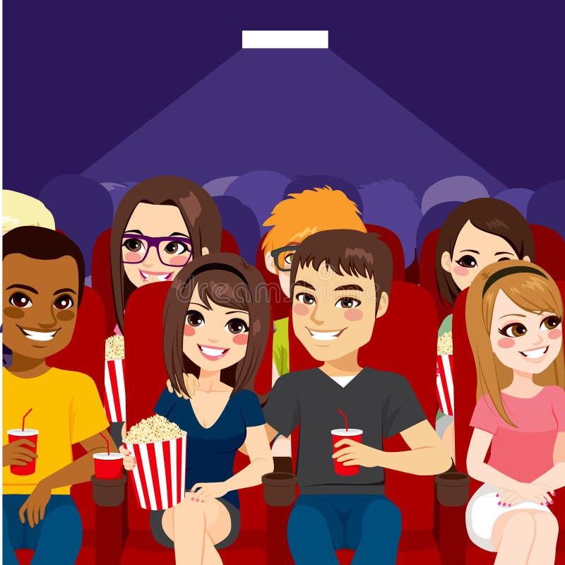Théâtre de cinéma de personnes illustration stock