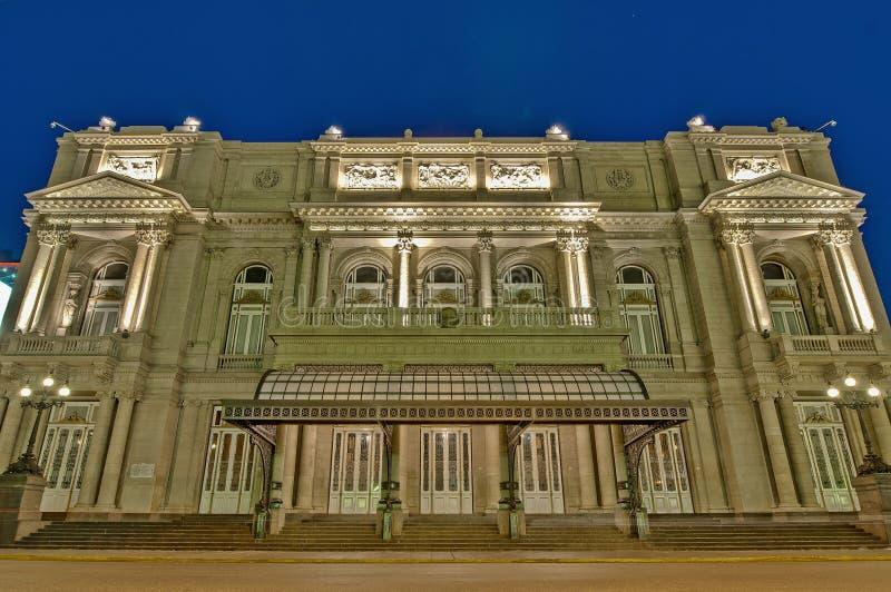 Théâtre de deux points à Buenos Aires, Argentine photos stock