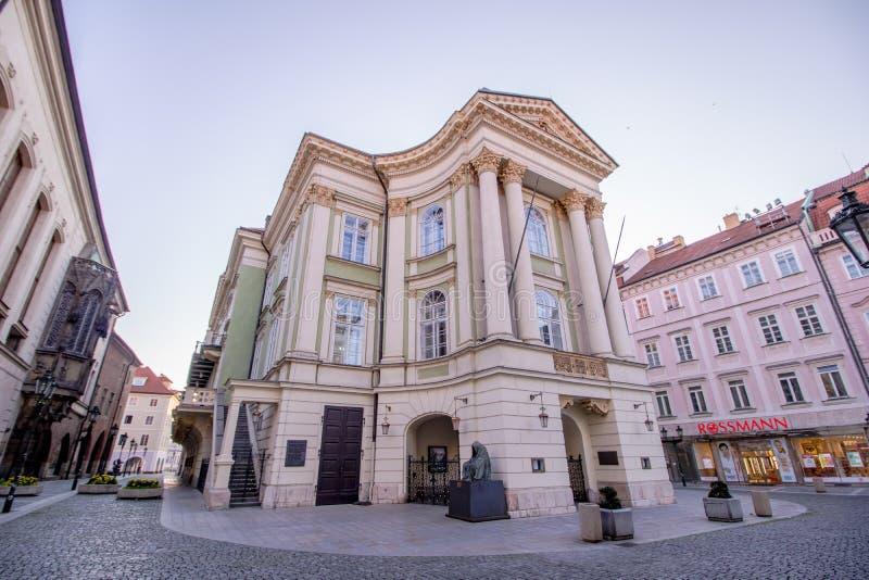 Théâtre de domaines à Prague, République Tchèque photographie stock libre de droits