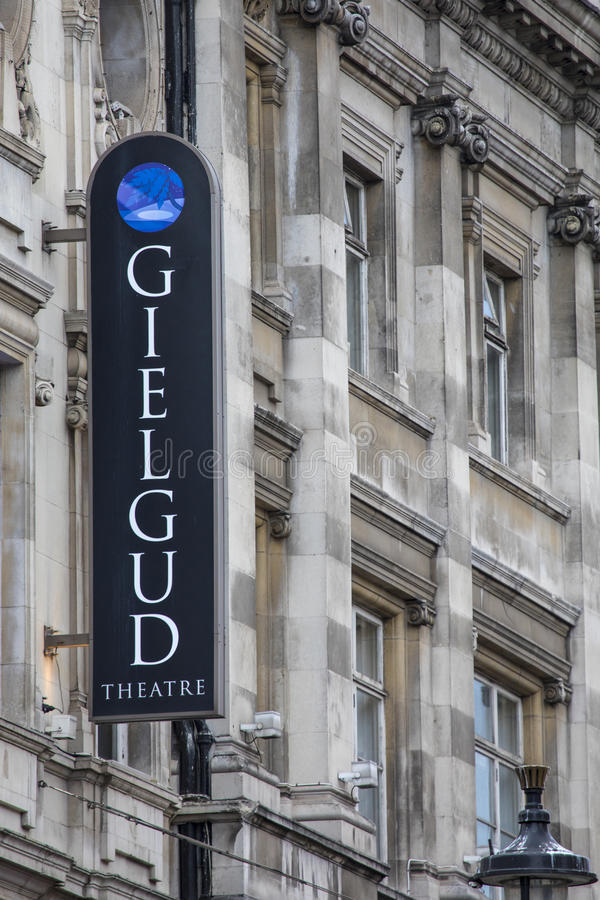 Théâtre de Gielgud à Londres image stock