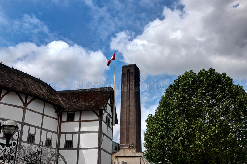 Théâtre de globe de Shakespeare, Tate Modern, Londres, Angleterre photos stock