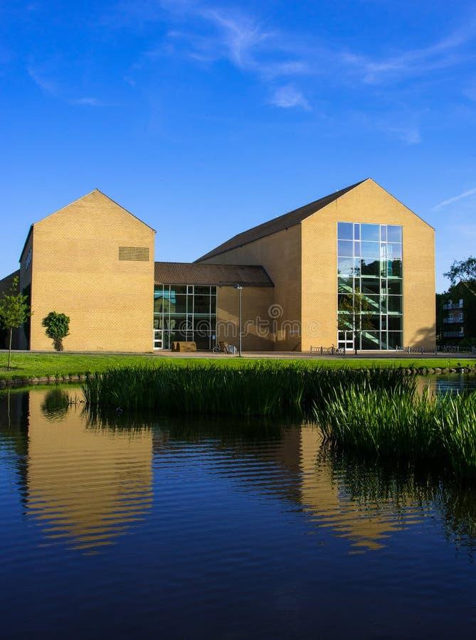 Théâtre de Lakeside, université d'Aarhus, Danemark (ii) photographie stock