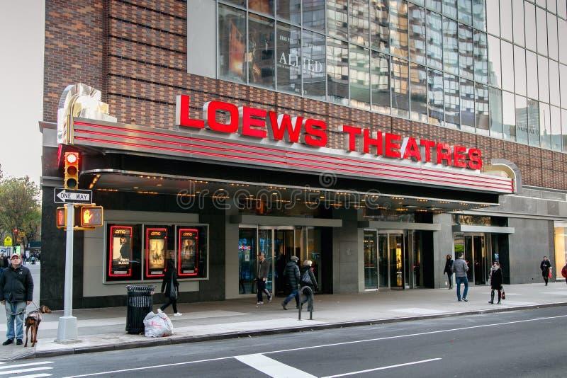 Théâtre de Loews image libre de droits