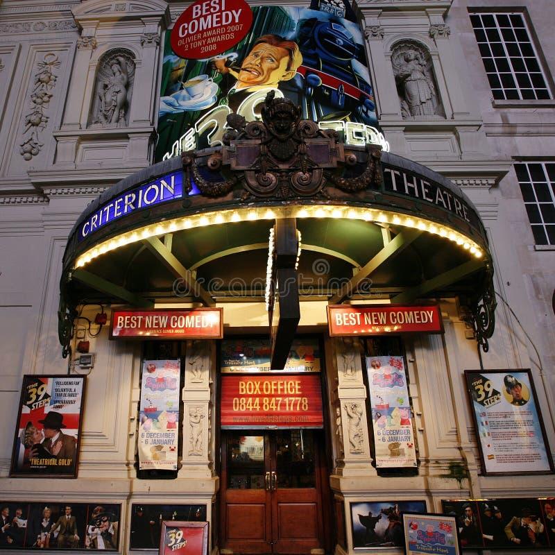 Théâtre de Londres, critère de théâtre photographie stock libre de droits