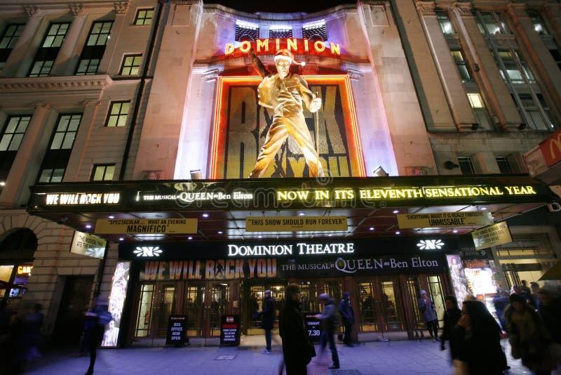 Théâtre de Londres, théâtre de dominion image libre de droits