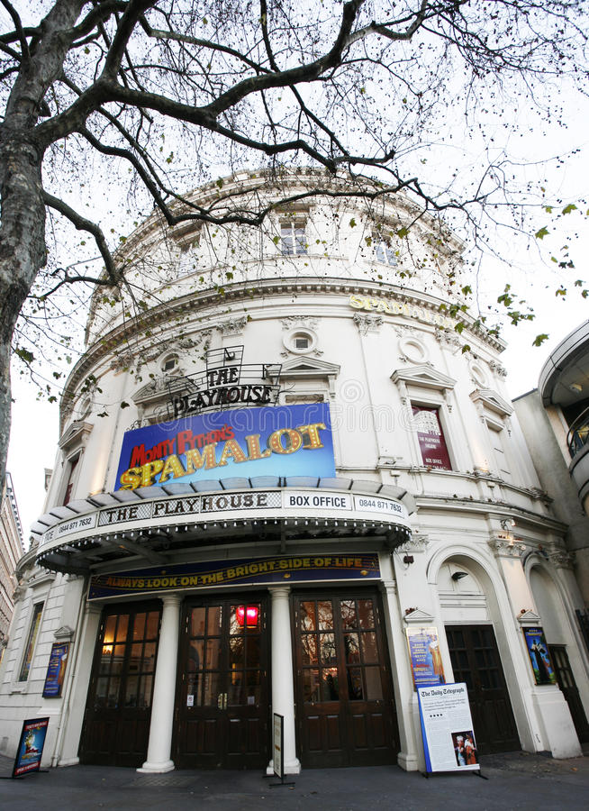 Théâtre de Londres, théâtre de maison de théâtre photos stock