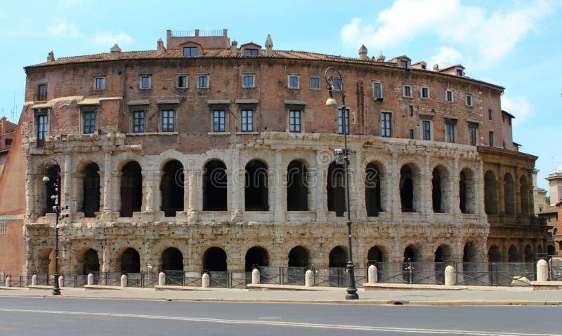 Théâtre de Marcellus à Rome photographie stock libre de droits