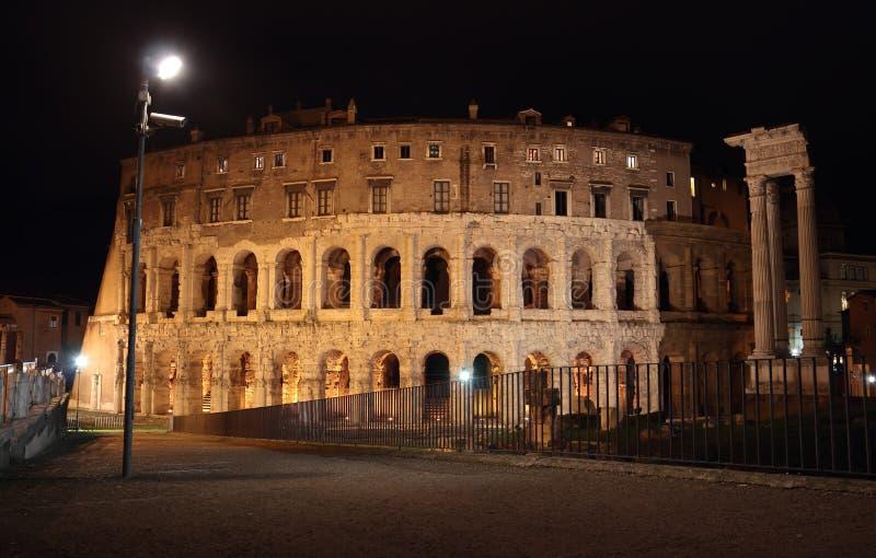 Théâtre de Marcellus à Rome image libre de droits