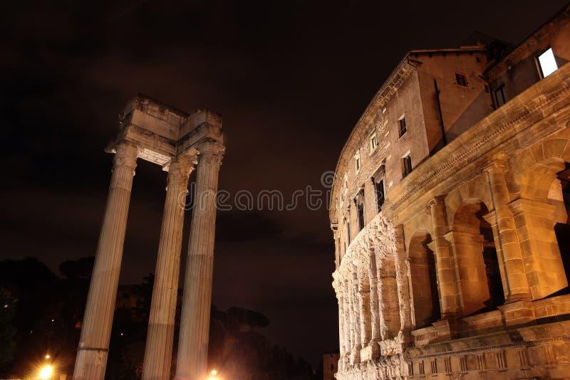 Théâtre de Marcellus à Rome photo libre de droits
