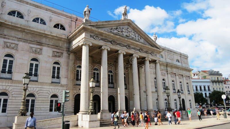 Théâtre de Maria II photographie stock libre de droits