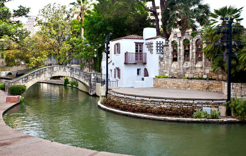Théâtre de San Antonio Riverwalk images stock
