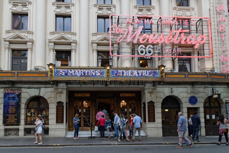 Théâtre de St Martin dans le West End photo stock
