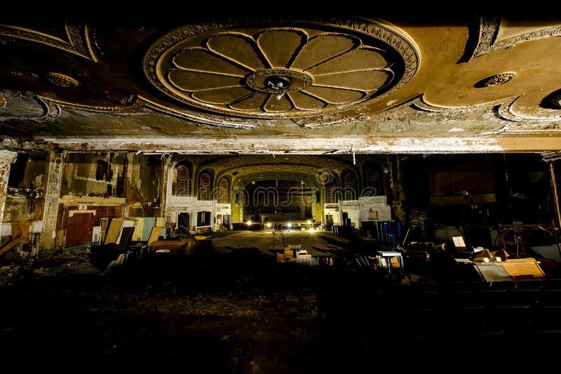 Théâtre de variété abandonné - Cleveland, Ohio images libres de droits