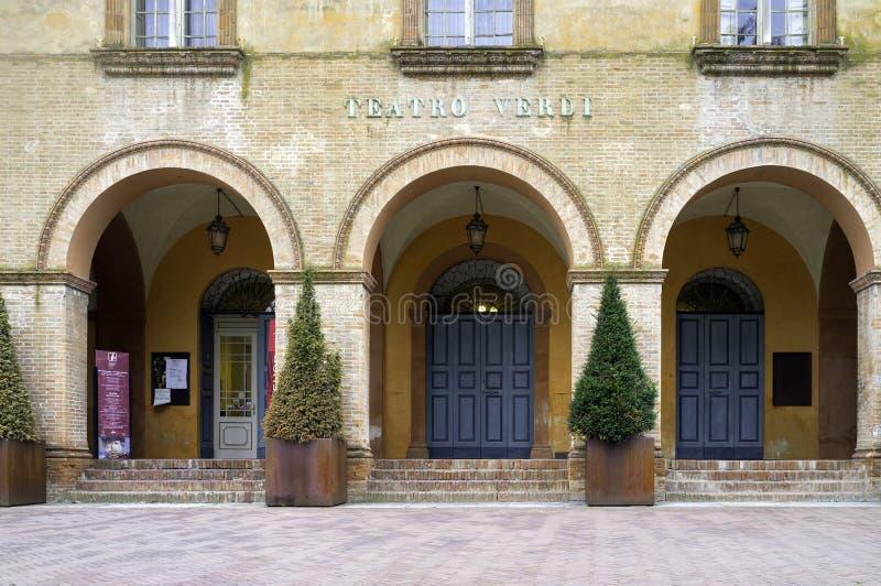 Théâtre de Verdi, Busseto Image de couleur image stock