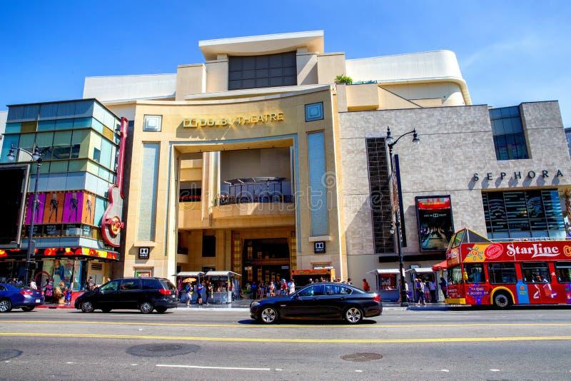 Théâtre dolby photographie stock libre de droits
