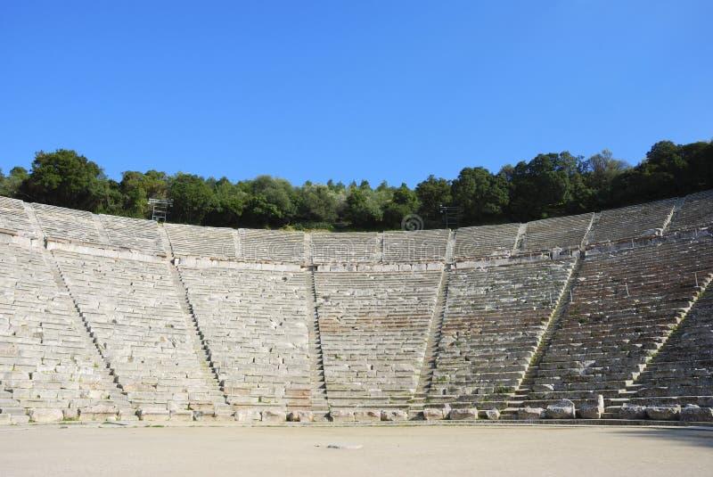 Théâtre du grec ancien image libre de droits