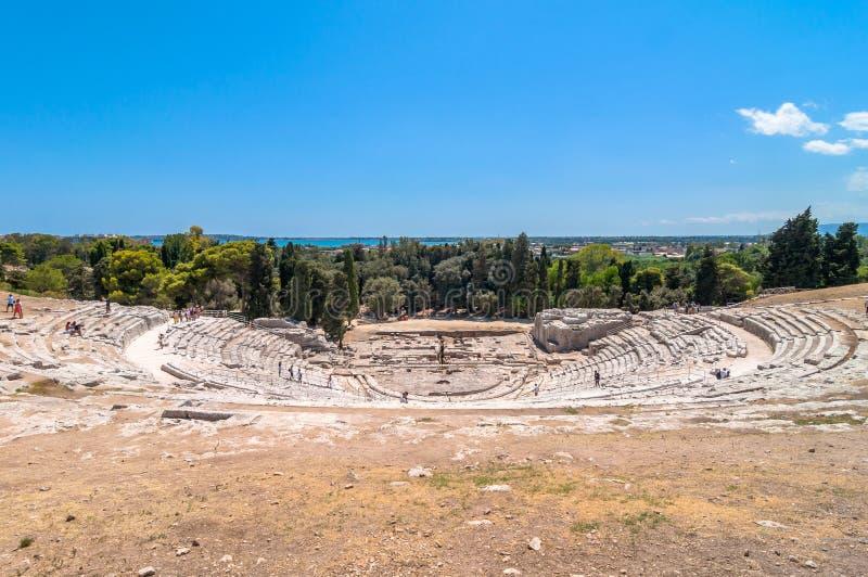 Théâtre du grec ancien de Syracuse, Sicile, Italie photo libre de droits