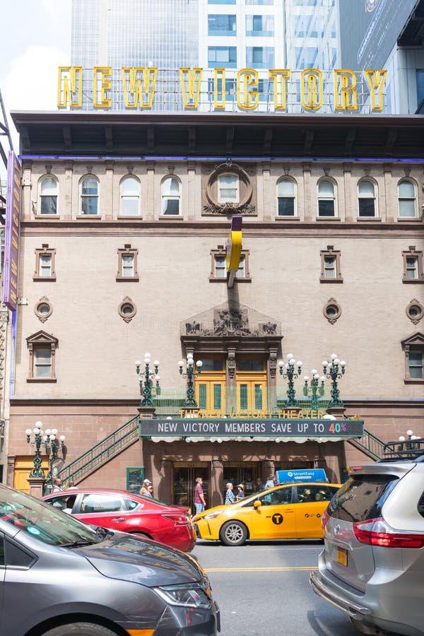 Théâtre du ` s de New York pour des enfants et des familles photo libre de droits