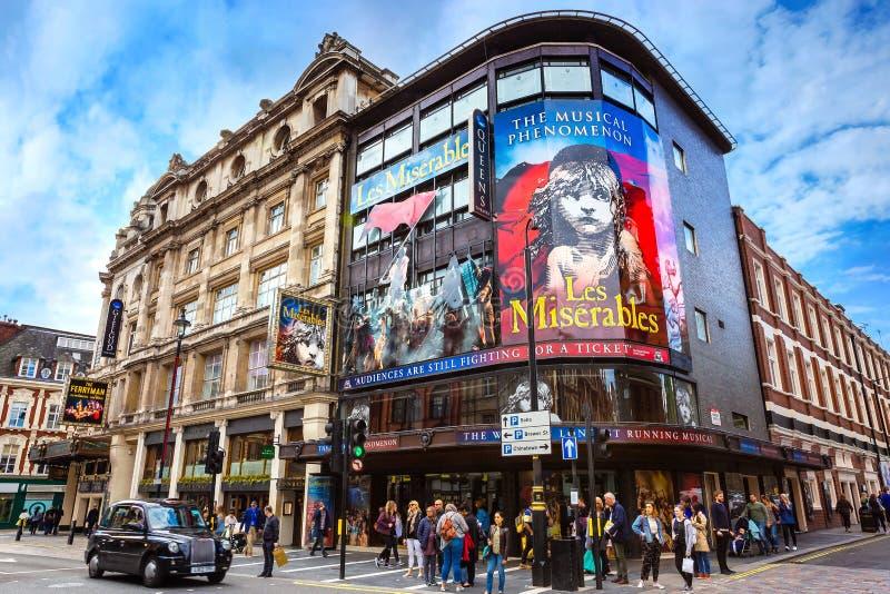 Théâtre du ` s de reine dans l'avenue de Shaftesbury , Londres, R-U photo libre de droits