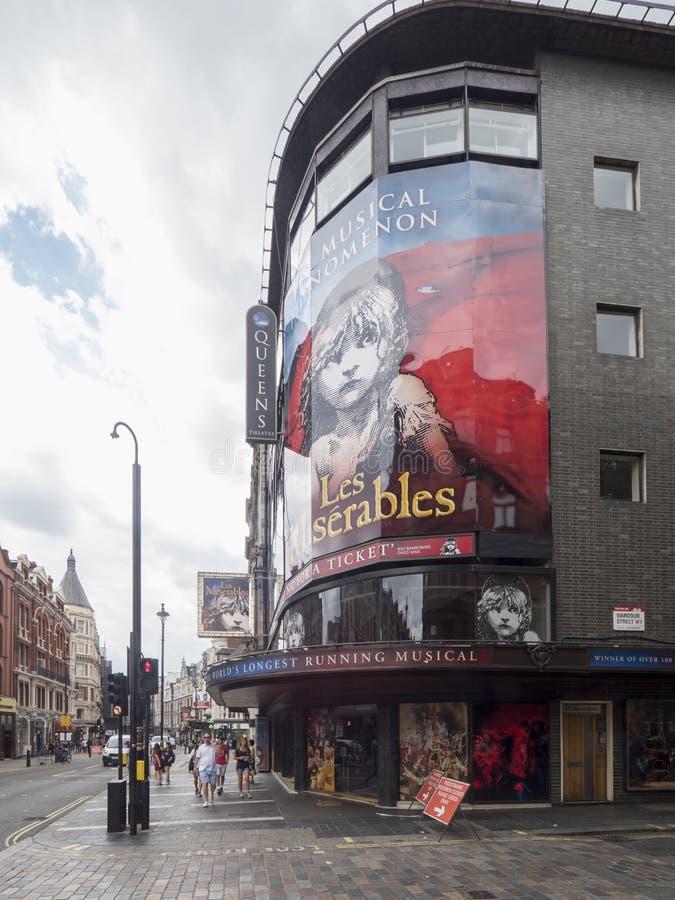 Théâtre du ` s de reine, Londres photographie stock
