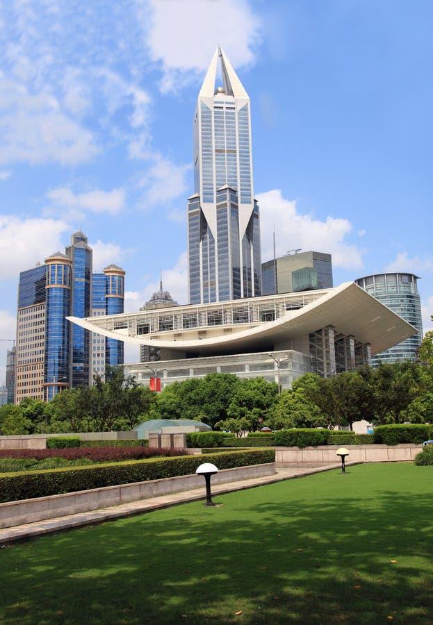 Théâtre grand de Changhaï images stock