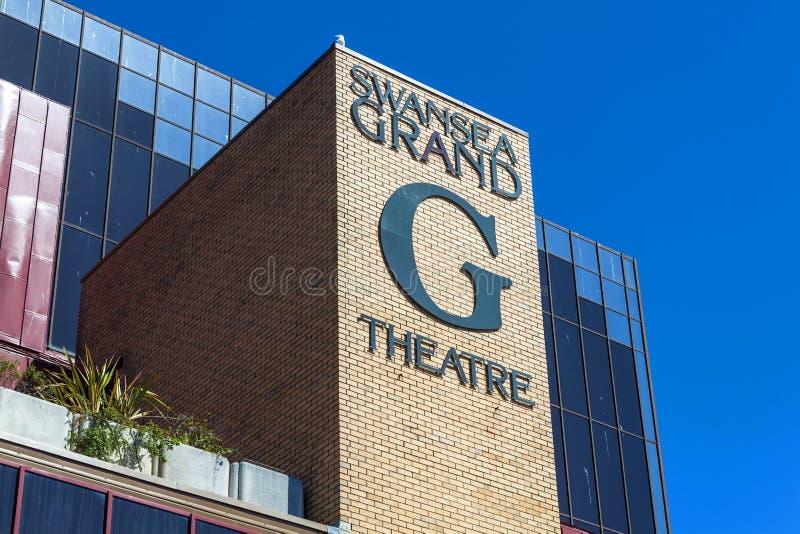 Théâtre grand de Swansea image libre de droits