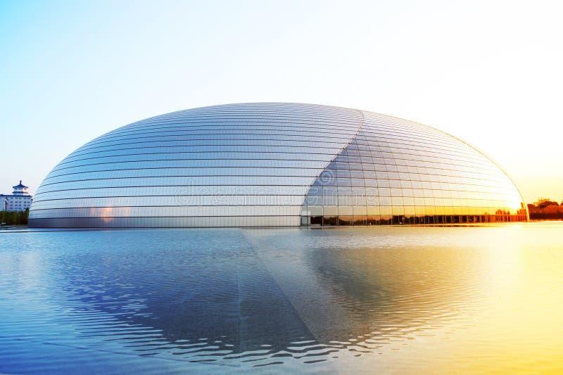 Théâtre grand national de la Chine image stock