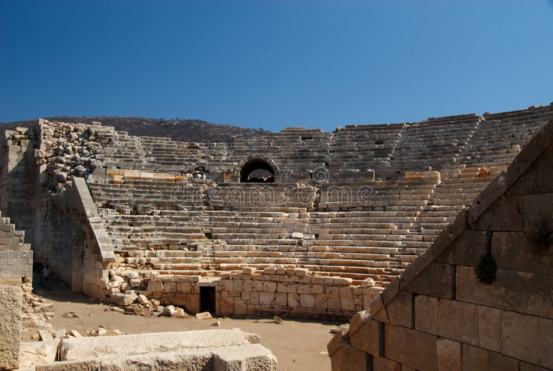 Théâtre grec, Patara, Turquie image libre de droits
