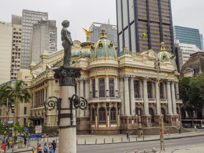 Théâtre municipal à Rio photos libres de droits