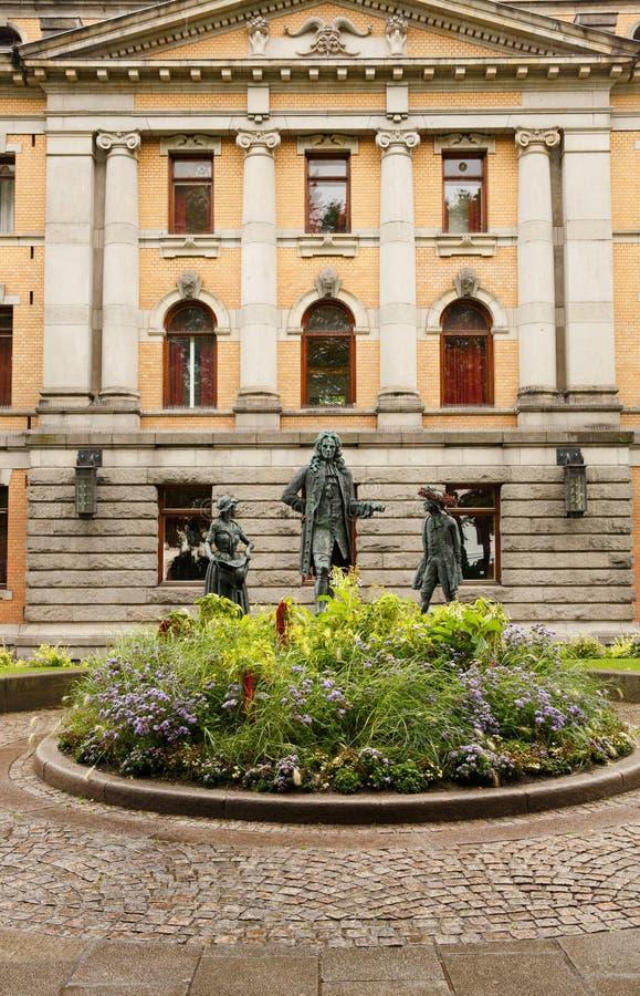 Théâtre national à Oslo photographie stock libre de droits