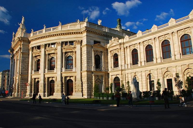 théâtre national autrichien Vienne photo libre de droits