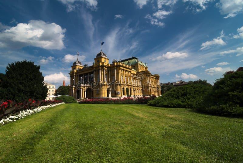 Théâtre national croate à Zagreb image stock
