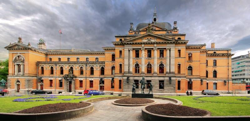 Théâtre national d'Oslo, Norvège image libre de droits