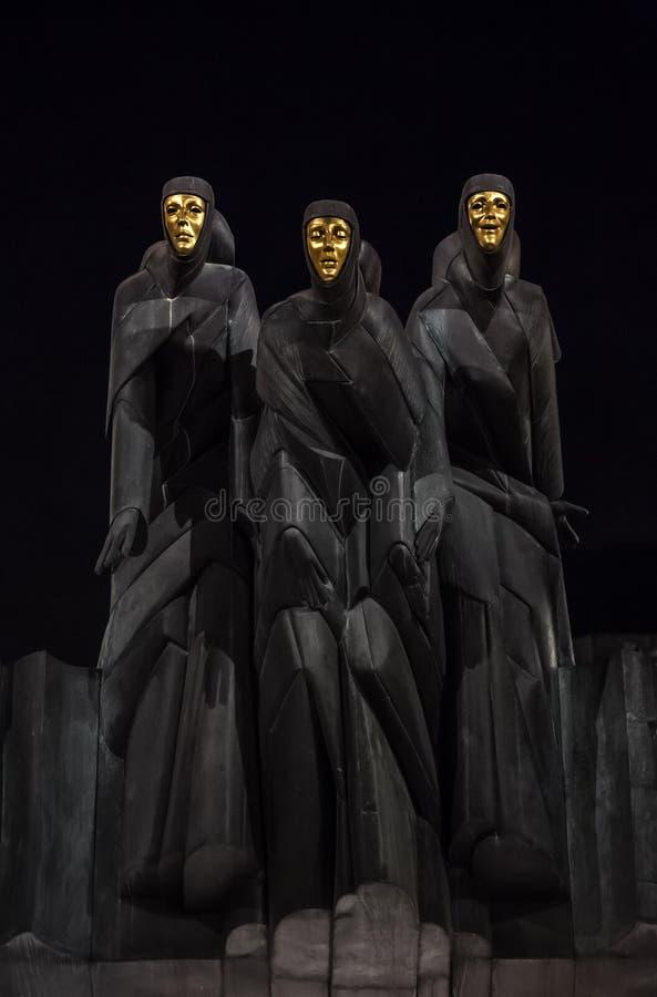 Théâtre national de drame à Vilnius photos libres de droits