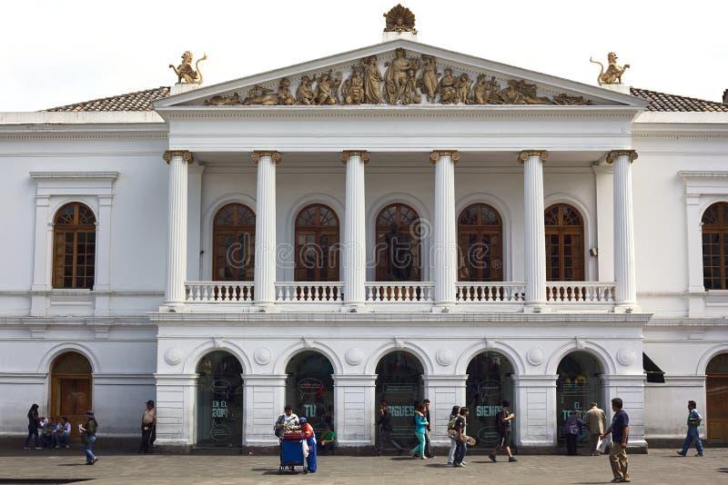 Théâtre national de sucre sur Plaza del Teatro à Quito, Equateur photo libre de droits