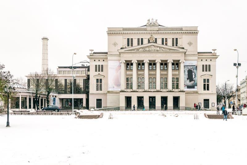 Théâtre national letton d'opéra et de ballet à Riga photographie stock