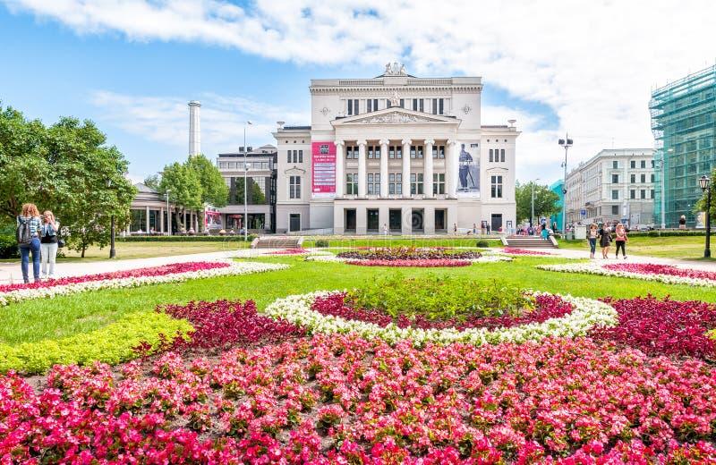 Théâtre national letton d'opéra et de ballet images libres de droits