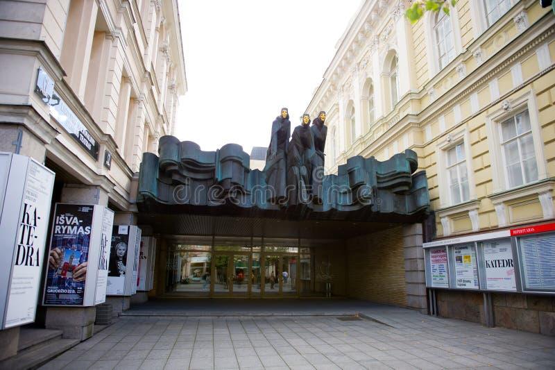 Théâtre national lithuanien de drame à Vilnius photos libres de droits