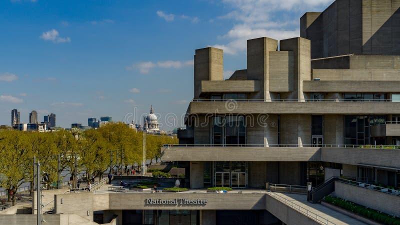 Théâtre national - Londres images libres de droits