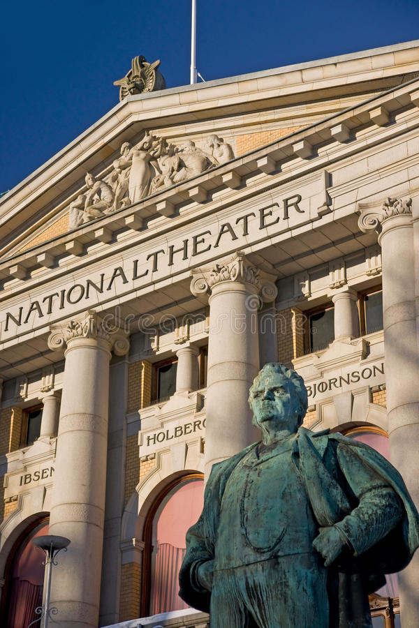 Théâtre national, Oslo images stock