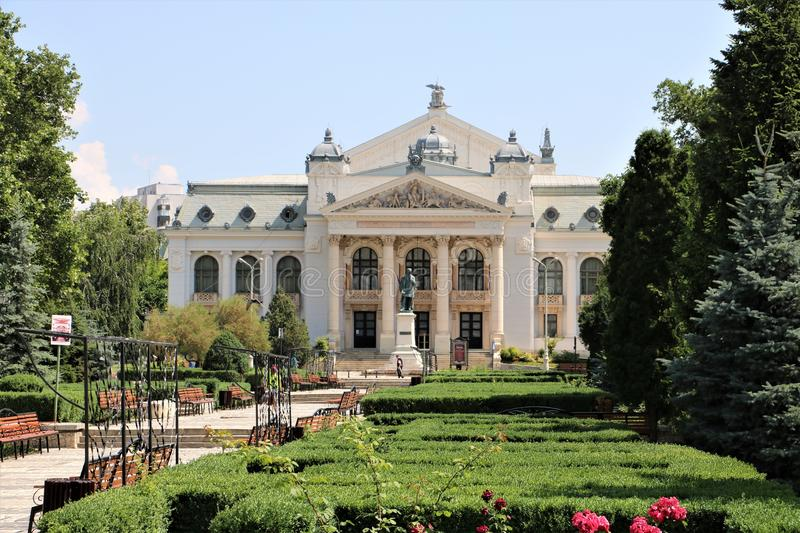 Théâtre national Roumanie d'Iasi images stock