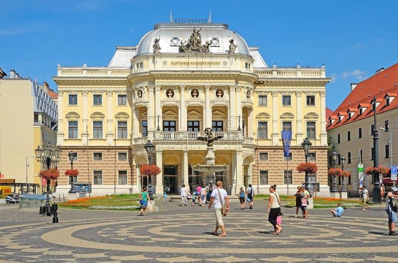 Théâtre national slovaque à Bratislava, Slovaquie. image stock
