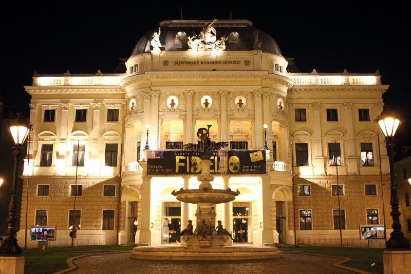 Théâtre national slovaque - Bratislava, Slovaquie photographie stock libre de droits