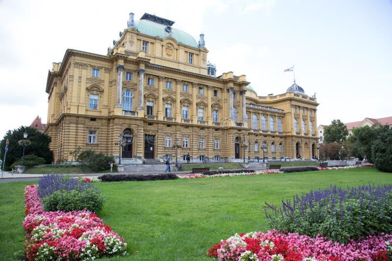 Théâtre national Zagreb Croatia image libre de droits